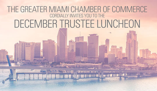 December Trustee Luncheon featuring the Alvah H. Chapman, Jr. Award of Excellence
