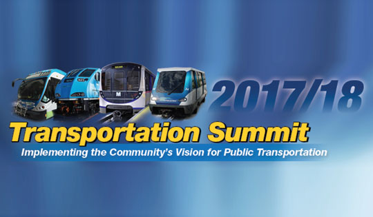 2017 Transportation Summit: Implementing the Community's Vision for Public Transportation