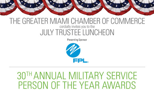 July Trustee Luncheon featuring the 30th Annual Salute to the Military