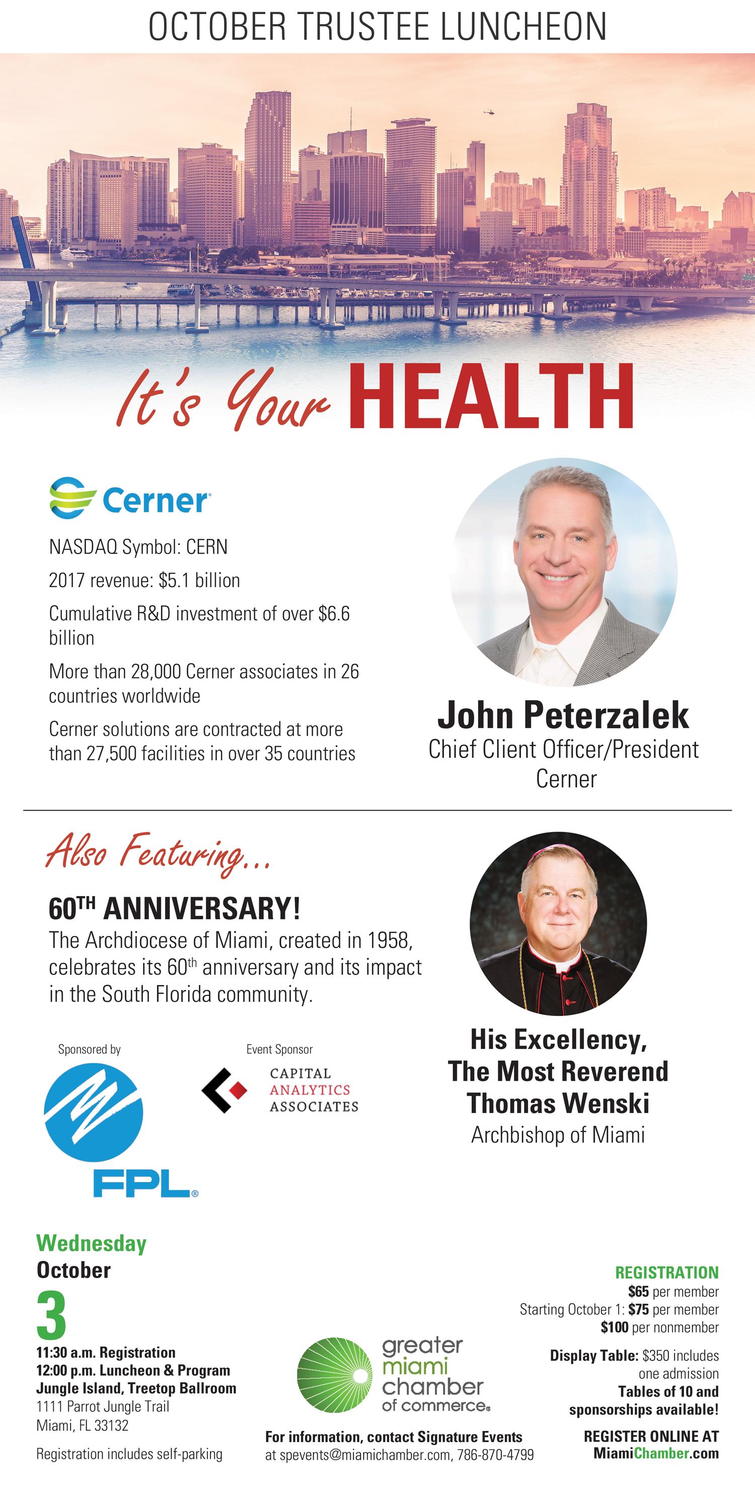 October Trustee Luncheon: Cerner CEO John Peterzalek